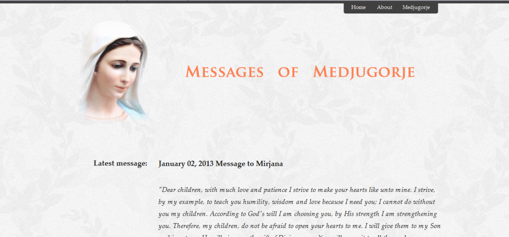 Messages   of   Medjugorje